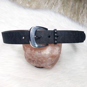 {Michael Kors} Monogram Belt Black Silver Studded